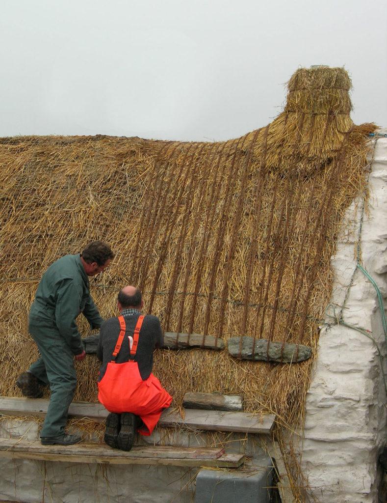 roping thatch easthouse croft shetland
