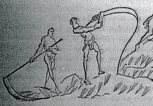 Anglo saxon scythe sharpening