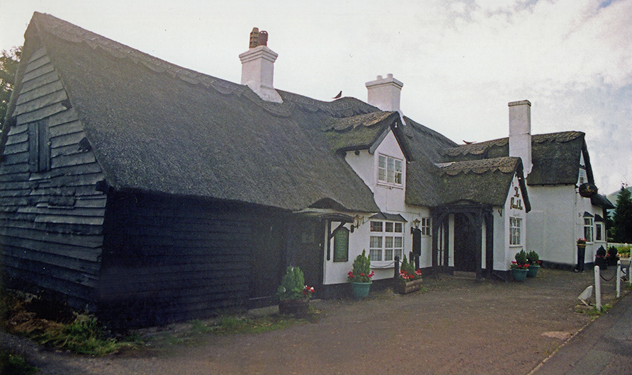 thatching at Leebotwood, in Shropshire.
