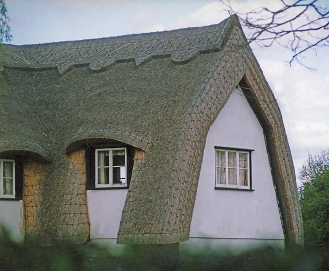 essex thatched mansard roof