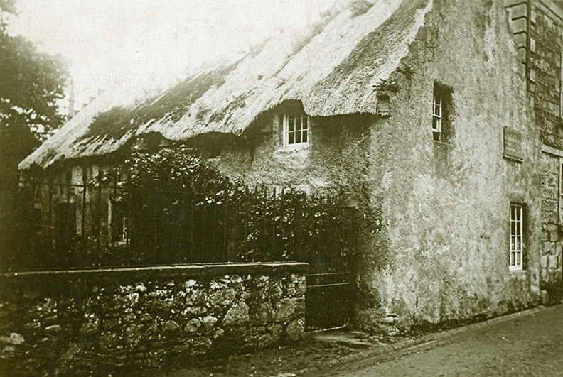 thatching hugh miller's cottage cromarty