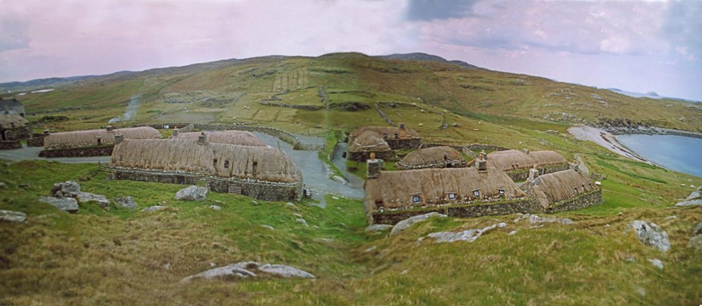 thatching at gearannan, isle of lewis Scotlan