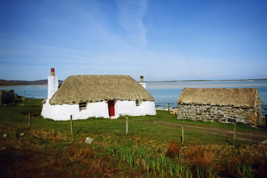 thatch north uist hebrides scotland