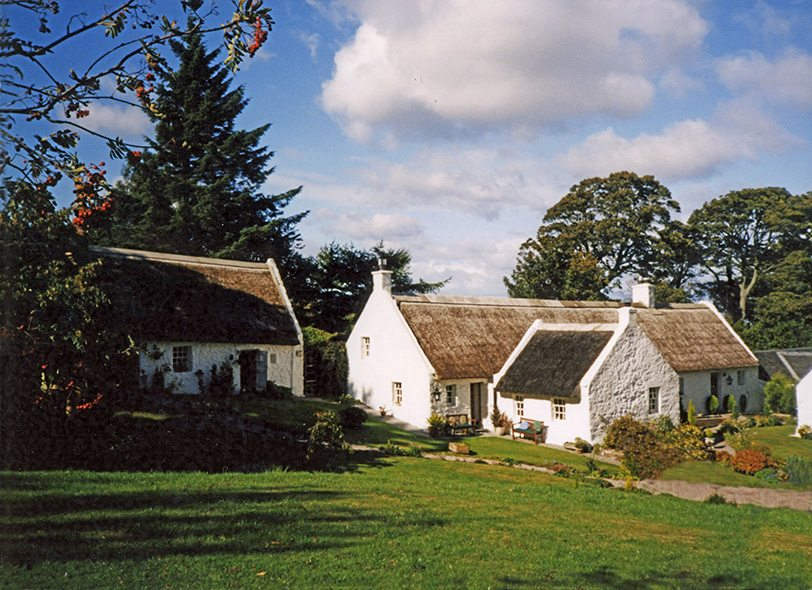 thatch swanston robert louis stevenson scotland