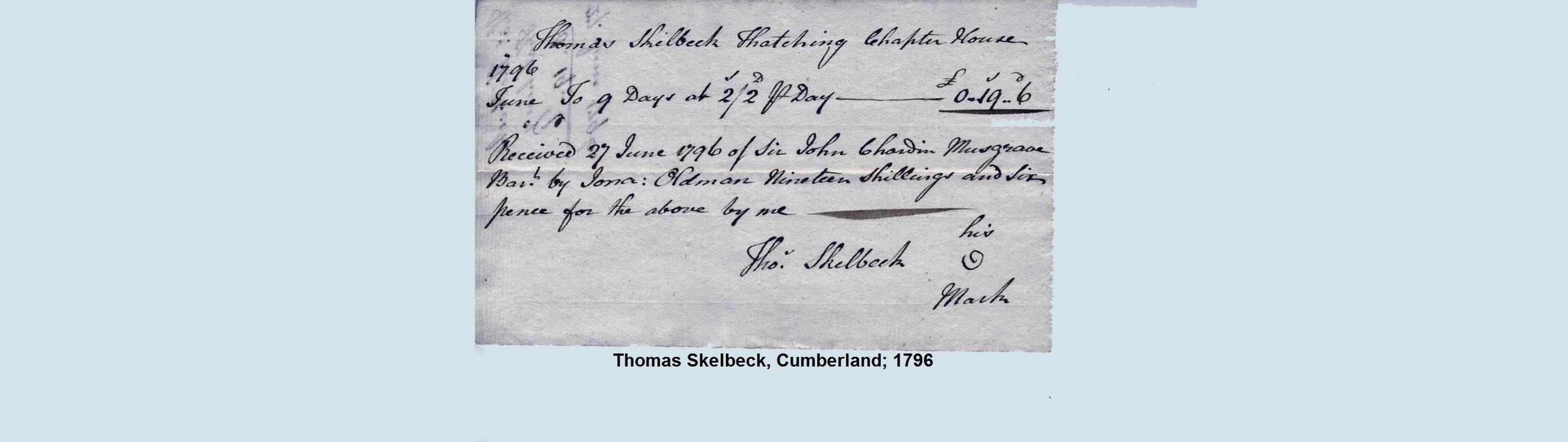 thatch invoice 1817