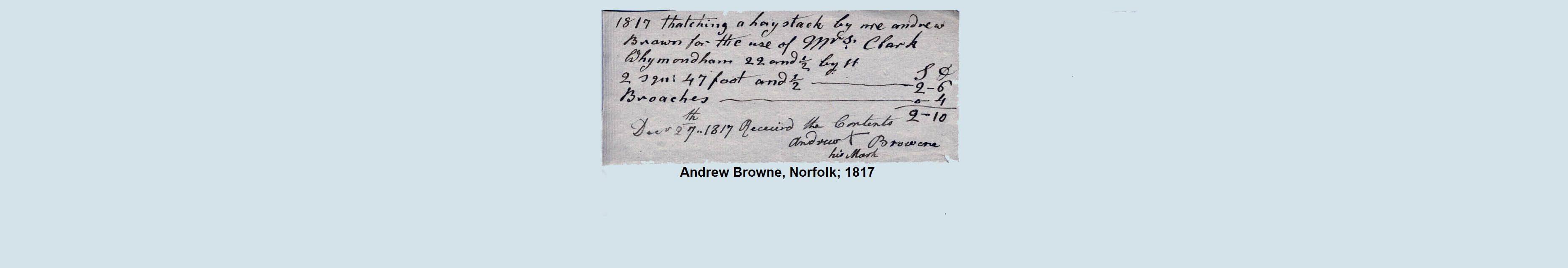 thatch norfolk 1817