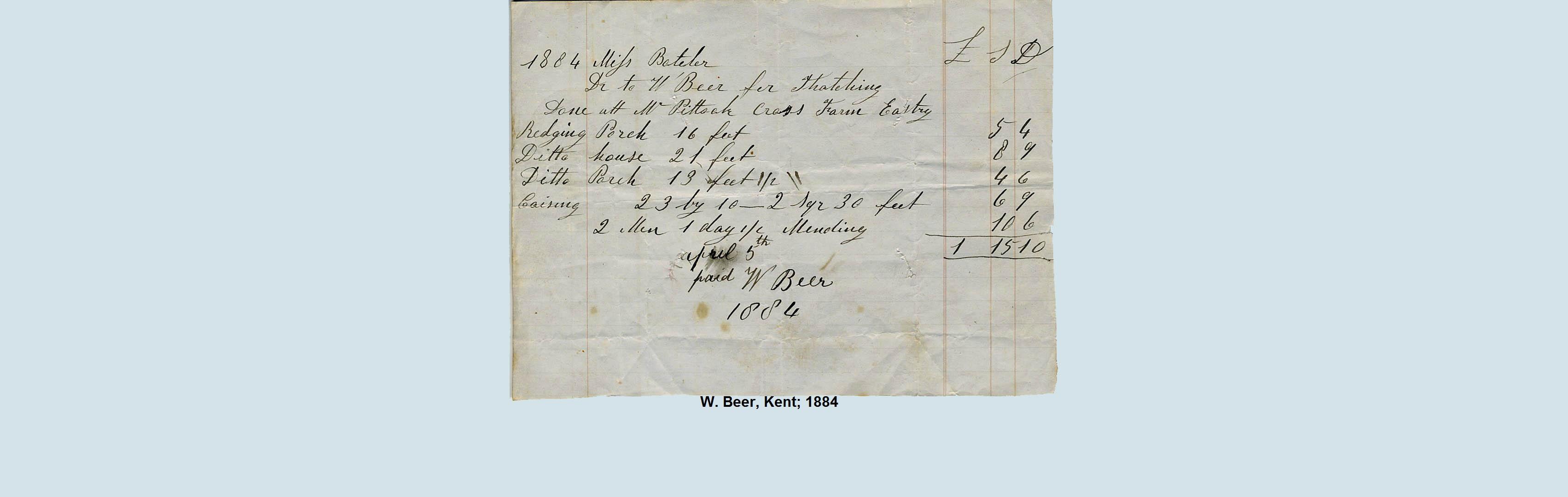 thatch bill 1884
